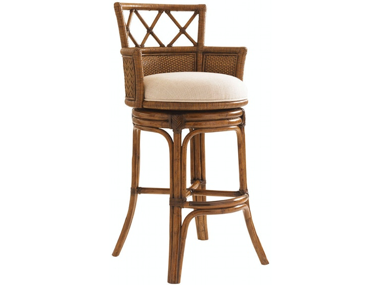 Tommy Bahama Home Kamala Bay Swivel Bar Stool 593-816-01