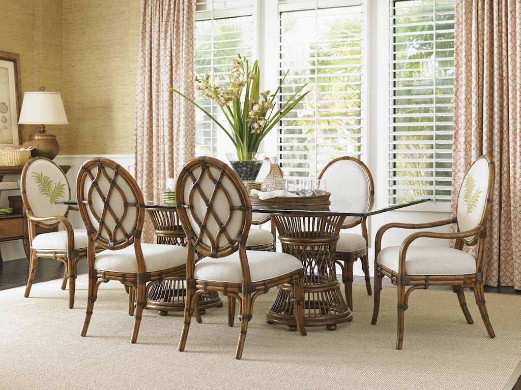 Tommy Bahama Home Dining Room Aruba Dining Table Base 593-870 ...