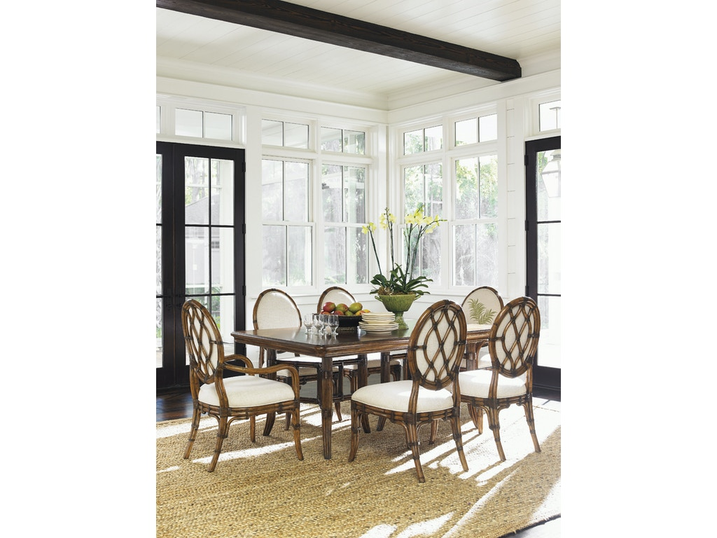 Tommy Bahama Home Dining Room Fisher Island Rectangular Dining Table ...