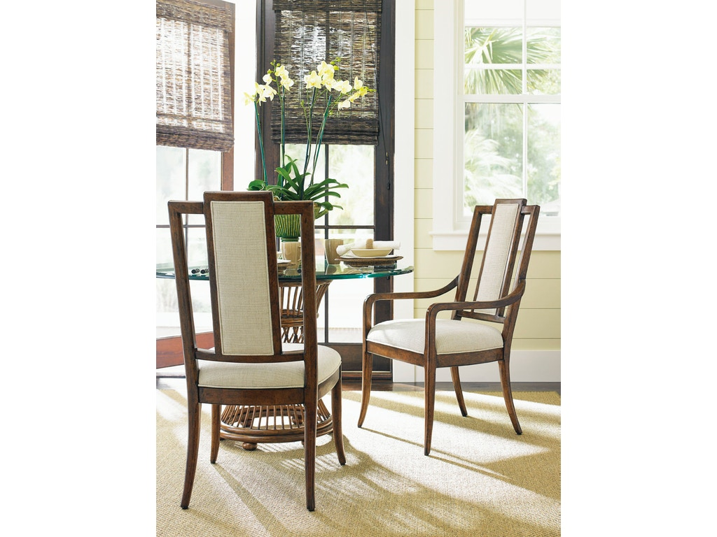 Tommy Bahama Home Dining Room St. Barts Back Splat Arm Chair 593-883 ...