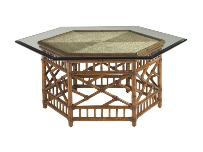 Tommy Bahama Home Key Largo Cocktail Table With Glass Top 531 947C