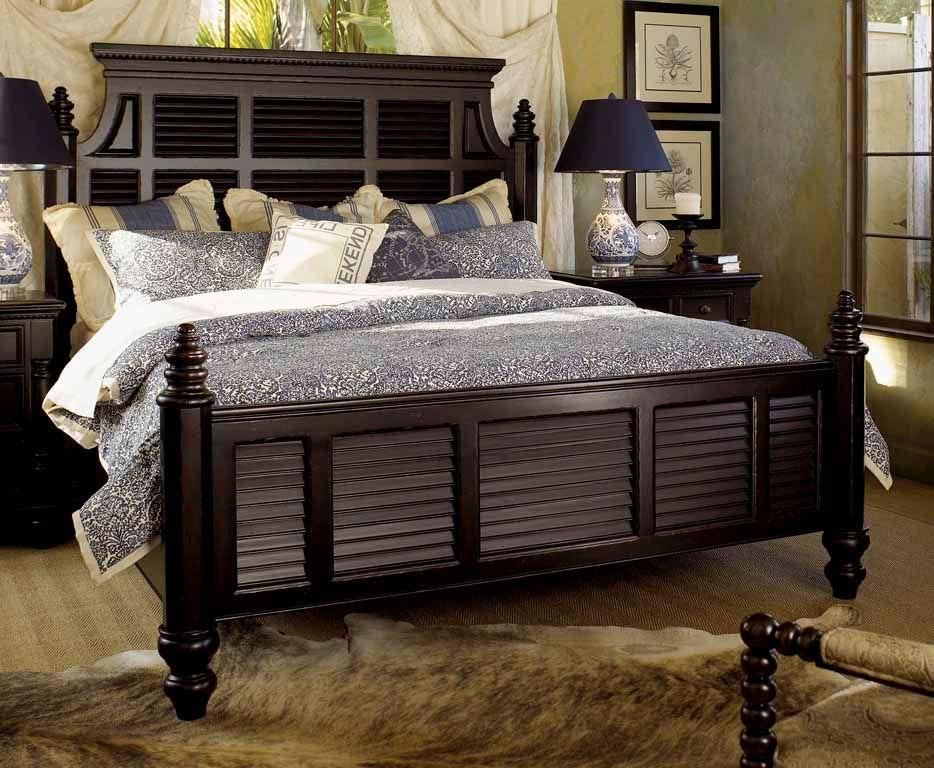 Tommy Bahama Home Bedroom Malabar 5 0 Queen Panel Bed