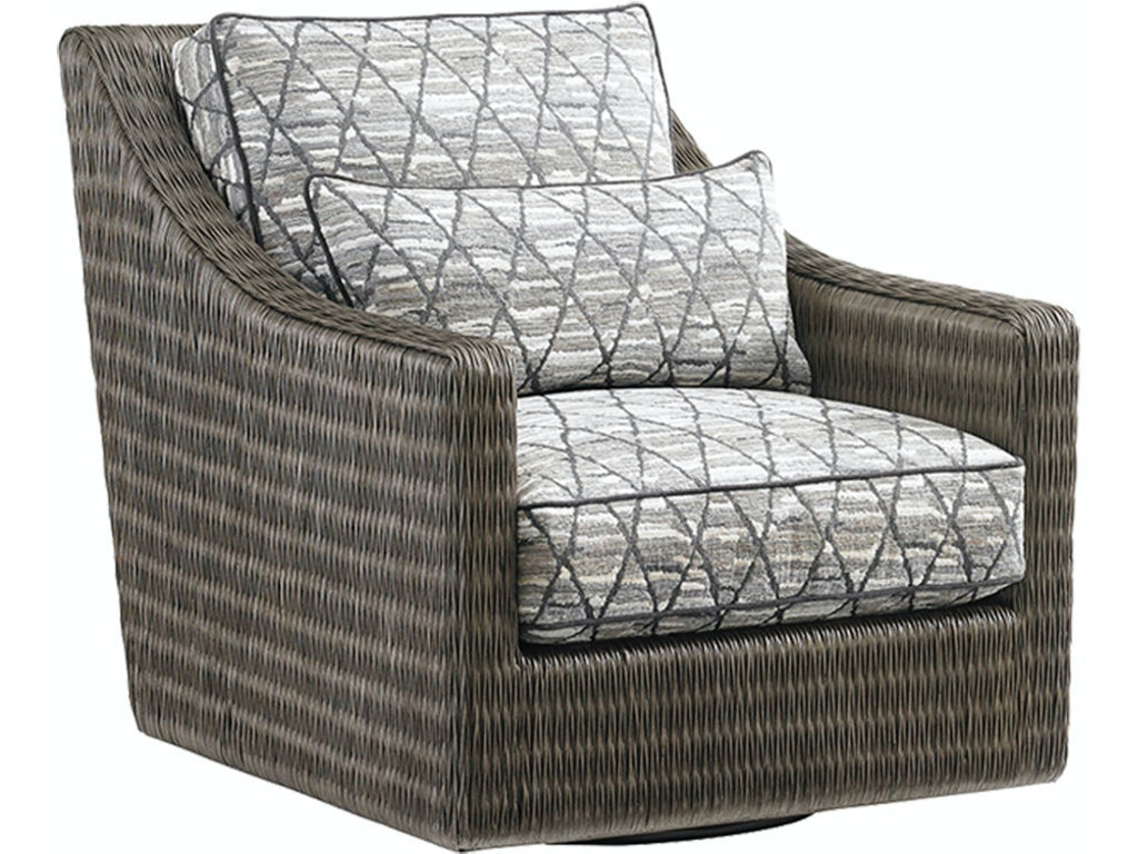 Tommy bahama home living room hayes swivel chair 7470 11sw - Swivel chair living room furniture ...