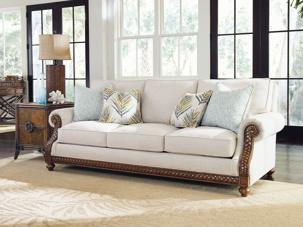 Tommy Bahama Living Room Furniture Tommy Bahama Home Living Room Shoreline Sofa 7844 33 02 Hickory
