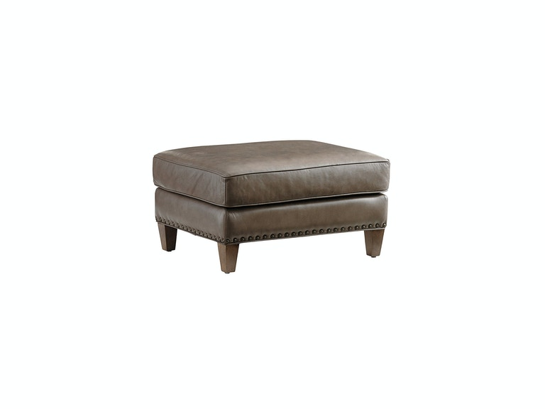 Tommy Bahama Home Hughes Leather Ottoman 9012-44-01
