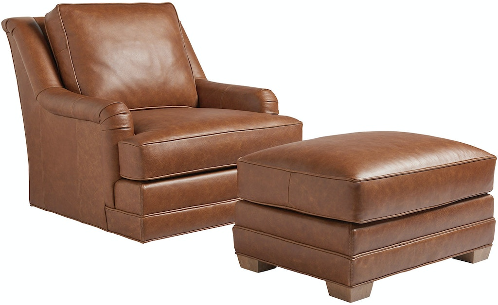 Tommy Bahama Home Living Room Benton Leather Swivel Chair