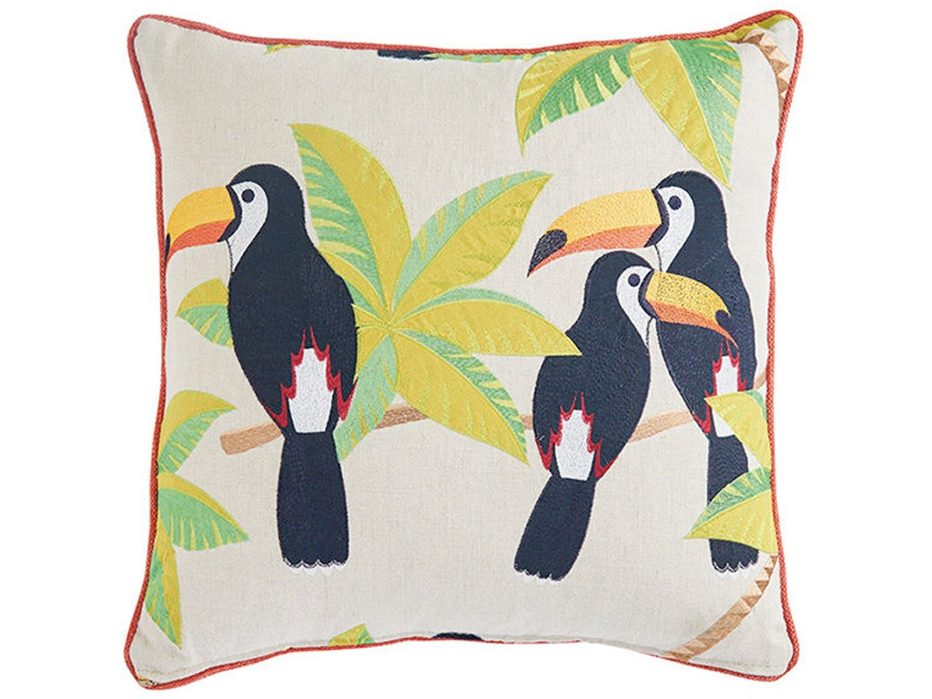 Throw Pillow That Says Home : Tommy Bahama Home Living Room Twin Palms Throw Pillow 9701-18 Hickory Furniture Mart Hickory, NC