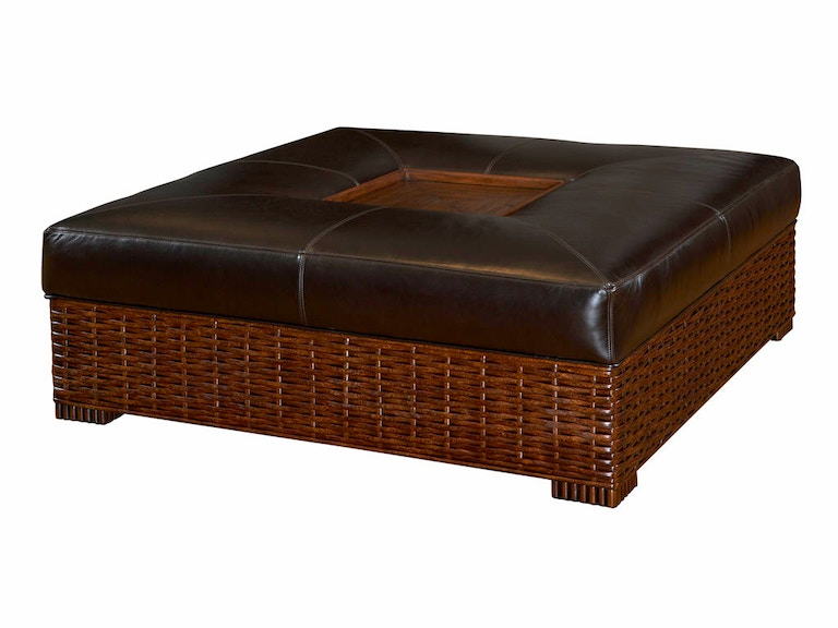 Tommy Bahama Home Ma-Holla Leather Cocktail Ottoman LL1765-44