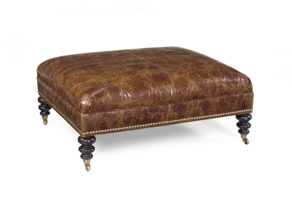 Tommy Bahama Home Living Room Cooper Leather Cocktail