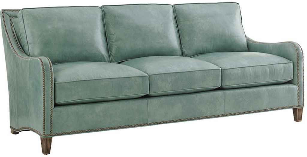 Tommy Bahama Home Living Room Koko Leather Sofa Ll7212 33