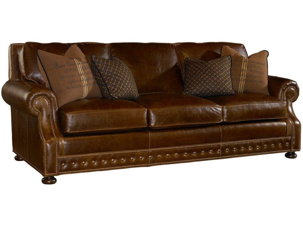 Tommy Bahama Home Living Room Devon Leather Sofa Ll7221 33 Howell Furniture Beaumont And