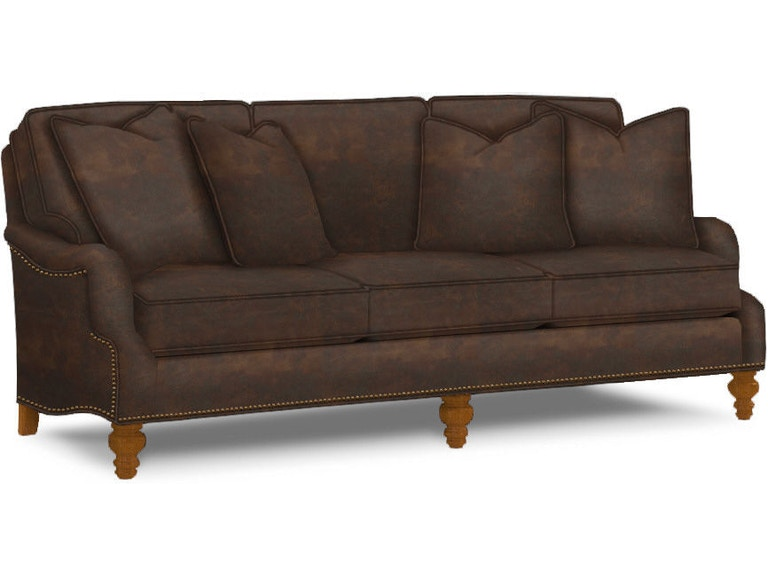 Tommy Bahama Home Living Room Amelia Leather Sofa LL7275-33 ...
