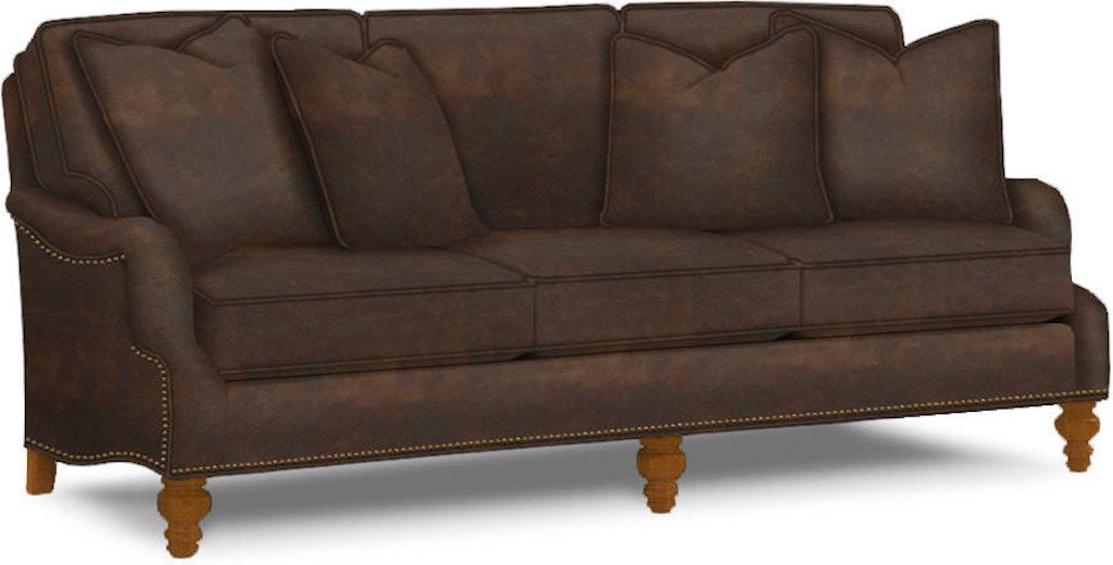 Tommy Bahama Home Living Room Amelia Leather Sofa LL7275-33 ...