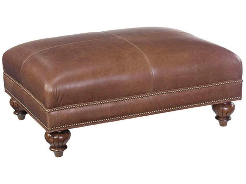 tommy bahama home living room bahia leather ottoman ll7958 44 lexington home brands. Black Bedroom Furniture Sets. Home Design Ideas