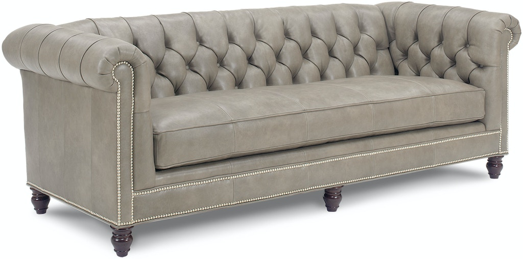 Living Room Manchester Leather Sofa