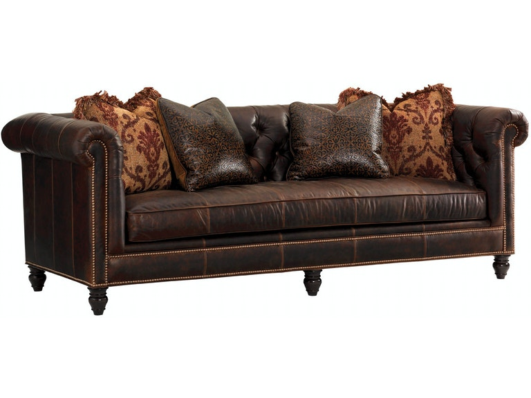 Tommy Bahama Home Living Room Manchester Leather Sofa LL7994-33AA ...