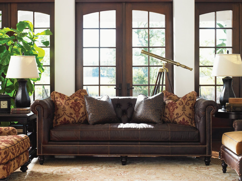 Tommy bahama home manchester leather sofa ll7994 33aa