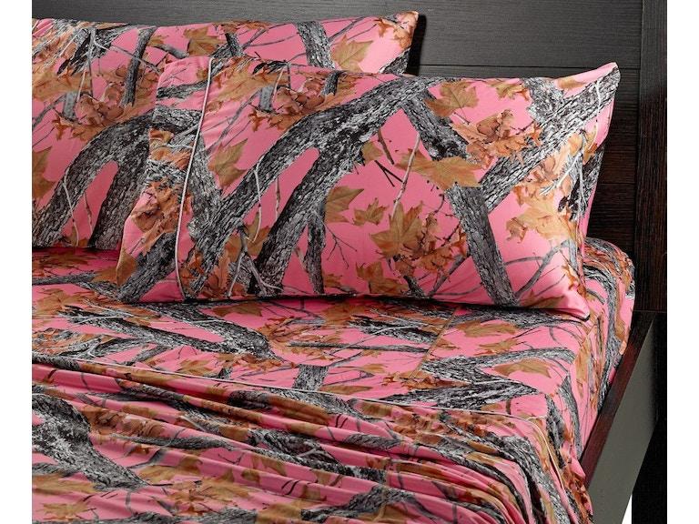 Bedgear Youth Dri Tec Camo Sheets Twin XL   Pink SPXMRFX