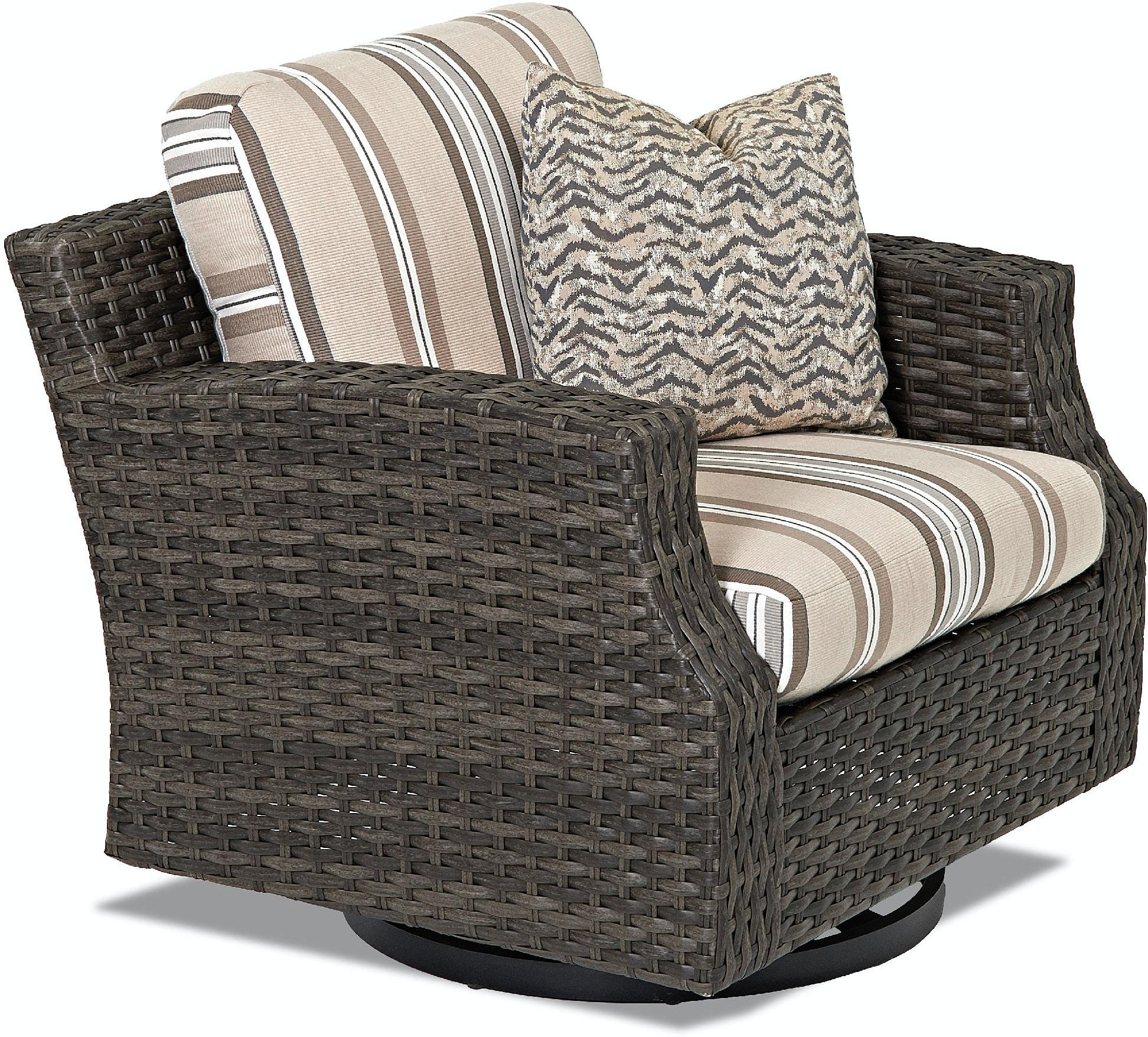 Klaussner Outdoor Outdoor Patio Cascade Swivel Glider Chair W5000 SGC Klaus