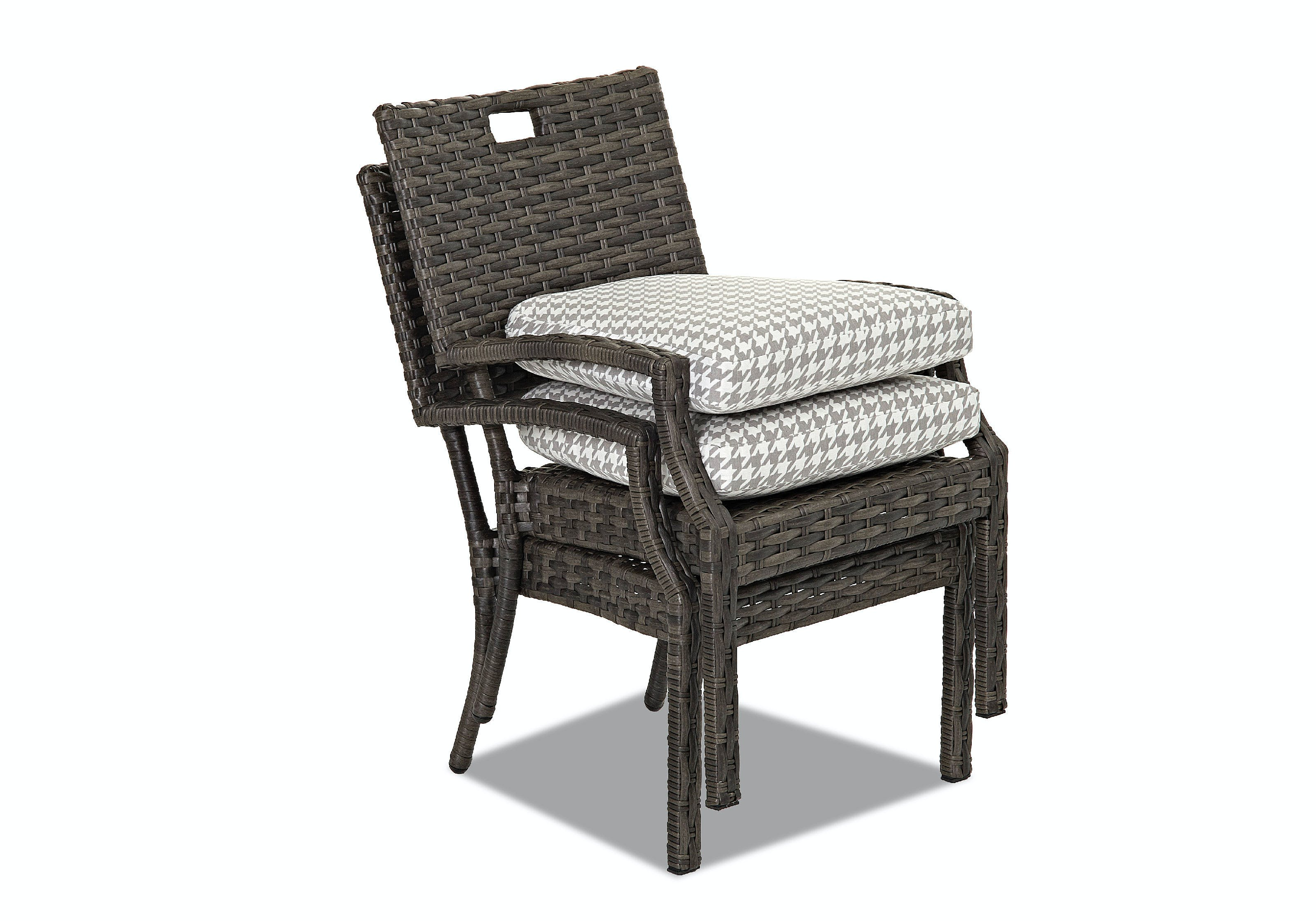 Klaussner Outdoor Outdoorpatio Cascade Stackable Dining Chair Cekw5000stdc Walter E Smithe Furniture Design