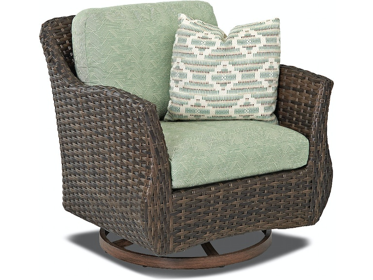 Klaussner Outdoor Sycamore Swivel Glider Chair W5100 Sgc