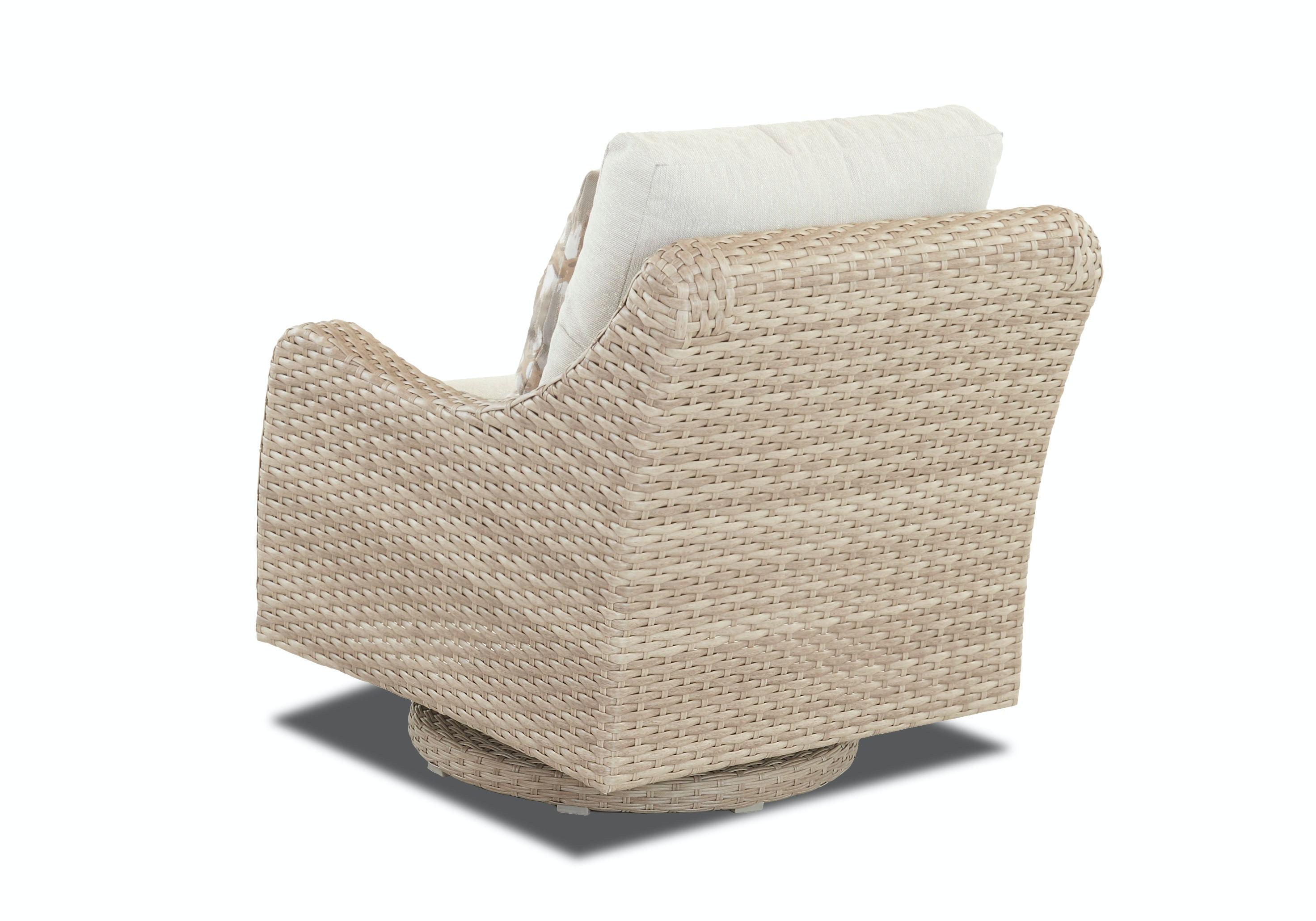 Klaussner Outdoor Mesa Swivel Rocking Chair W7501 SRKC
