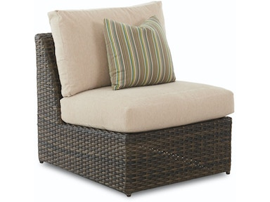 Klaussner Outdoor Mod Armless Chair W7002 Ac