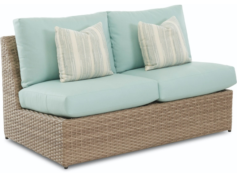 Patio Furniture Portsmouth Nh.Klaussner Outdoor Outdoor Patio Mod Armless Loveseat W7001 Als