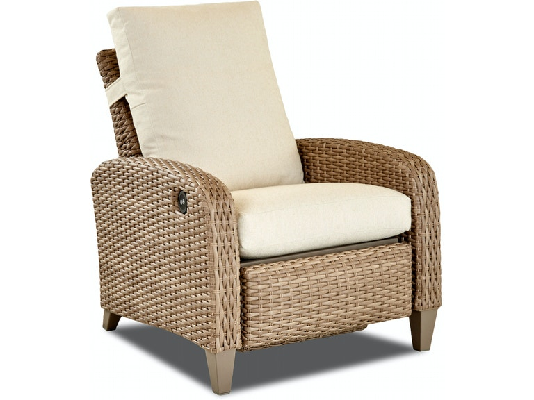 klaussner outdoor outdoor patio tidepointe power high leg reclining