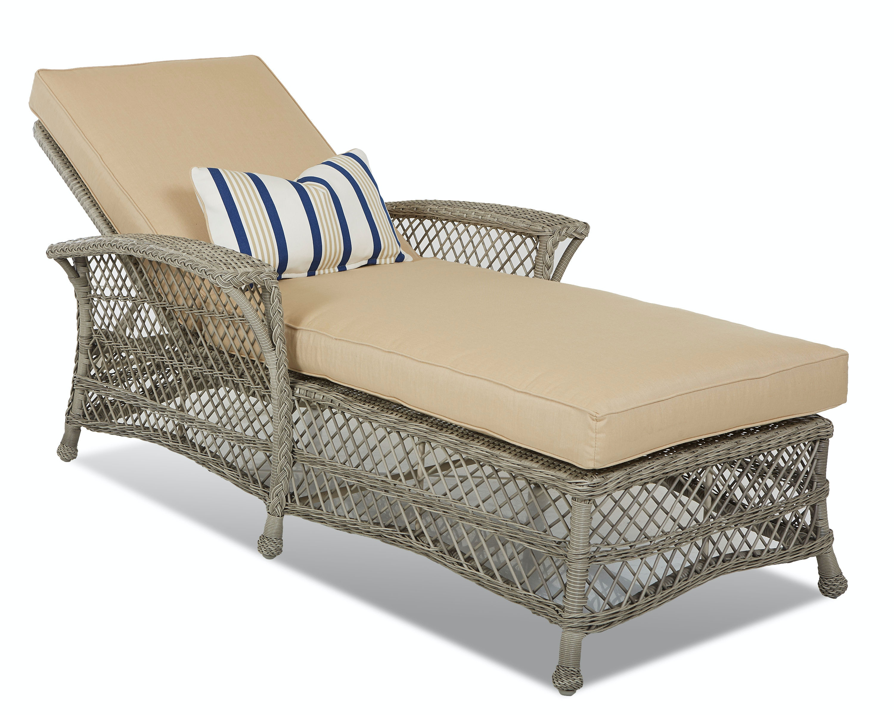 Klaussner Outdoor Outdoor/Patio Willow Chaise W1200 CHASE - High Country Furniture u0026 Design ...