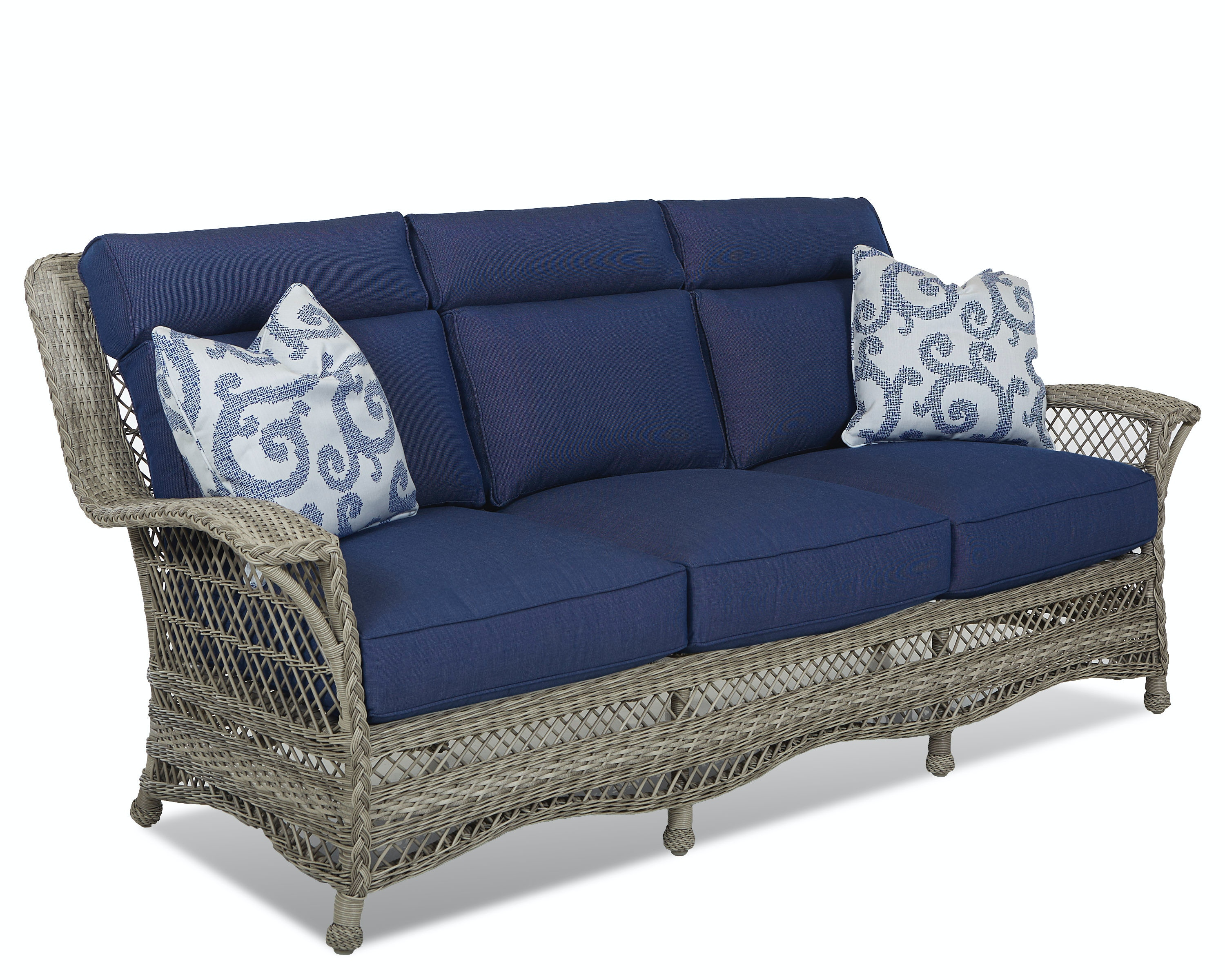 klaussner outdoor outdoor  patio willow sofa w1200 s - klaussner outdoor