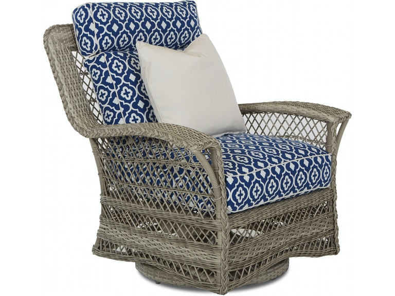 Klaussner Outdoor Patio Willow Swivel Glider Chair W1200 Sgc At Zing Casual Living
