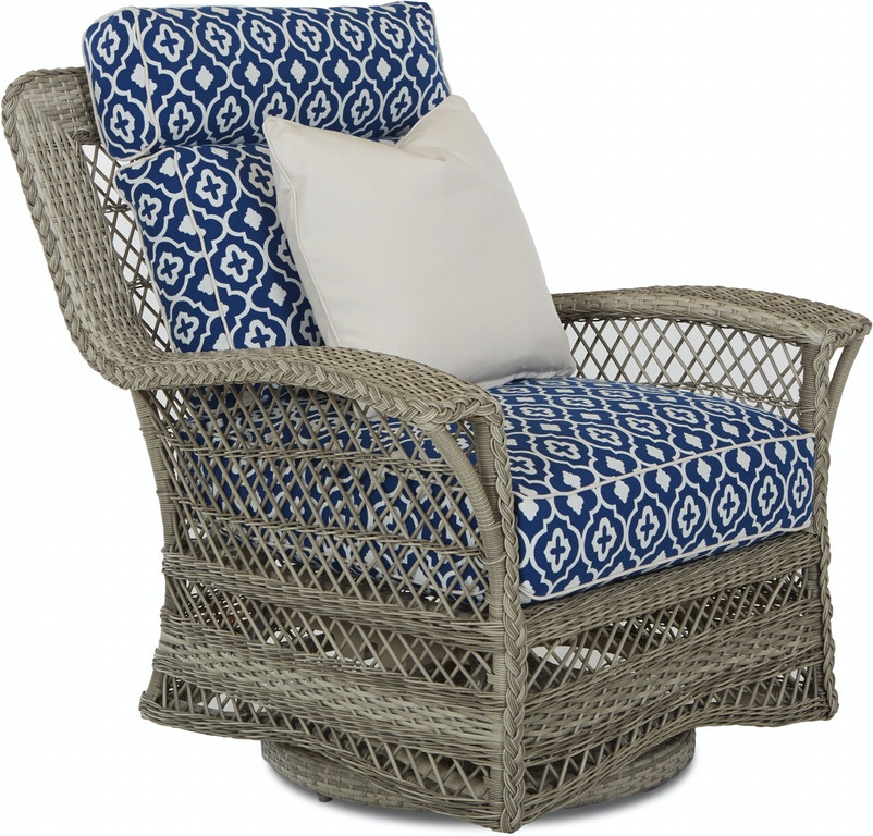 Klaussner Outdoor Outdoor Patio Willow Swivel Glider Chair