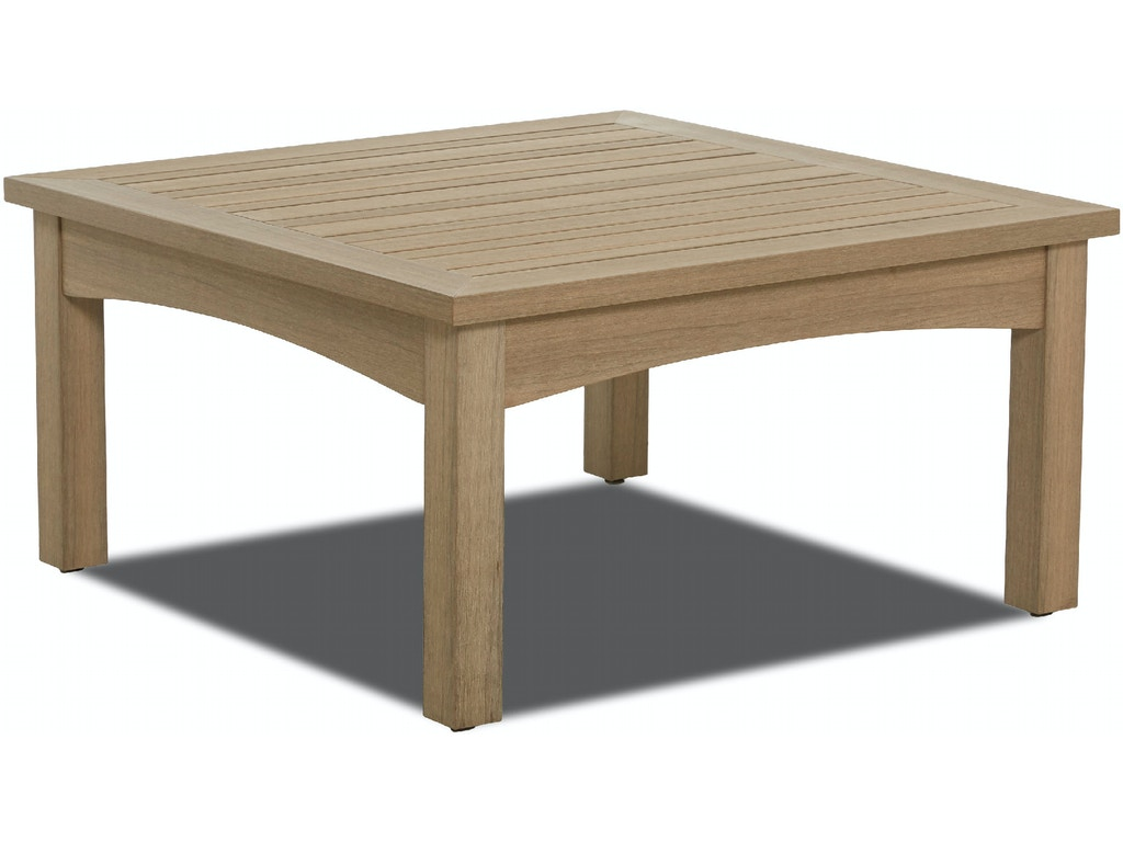 Klaussner Outdoor International Outdoor Patio Delray Square Cocktail Table W8502 Sqct