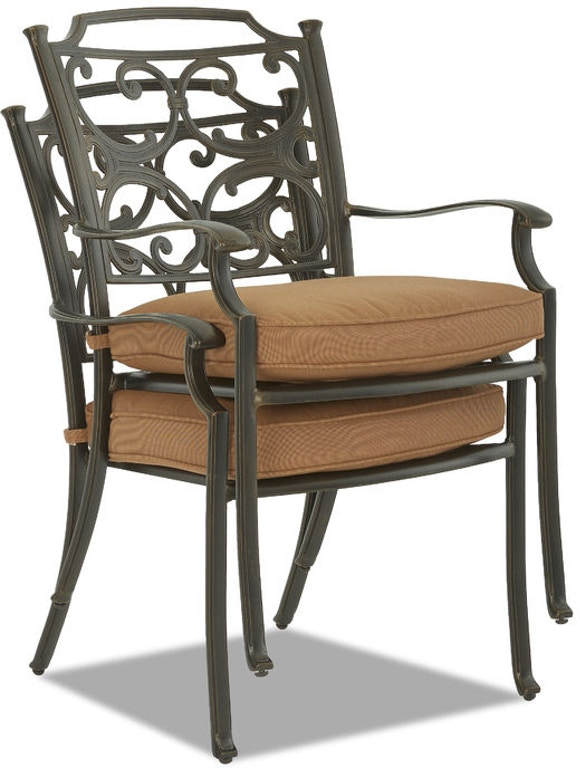 Klaussner Outdoor International Lowell Bay Dining Room Chair W6003 DRC