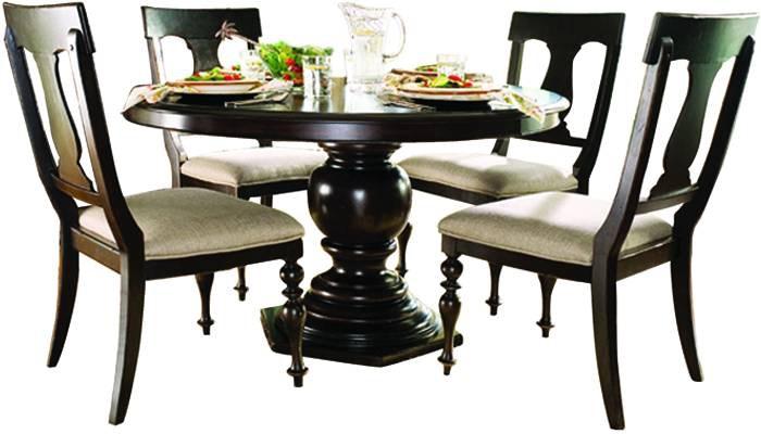 paula deen round dining table paula deen home 5 piece round