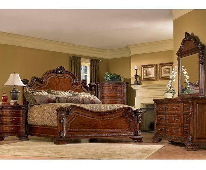 Old world furniture design Style Russells Fine Furniture Bedroom Old World Estate Bed