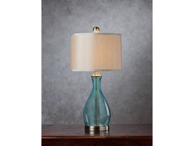 Blue Glass Lamp