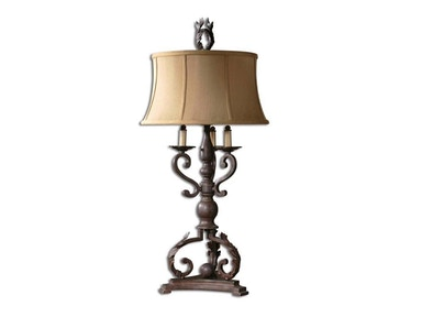 Hope Mahogany Bronze Lamp