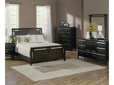 Brentwood Sleigh Bed - QUEEN