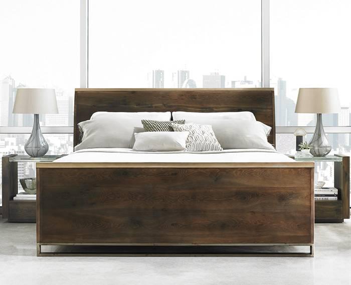 modern artisan sleigh bed king kt10520 - Sleigh Bed King