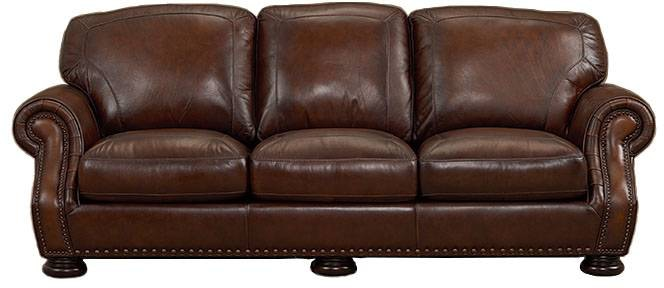 Living Room Picasso Prairie Leather Sofa