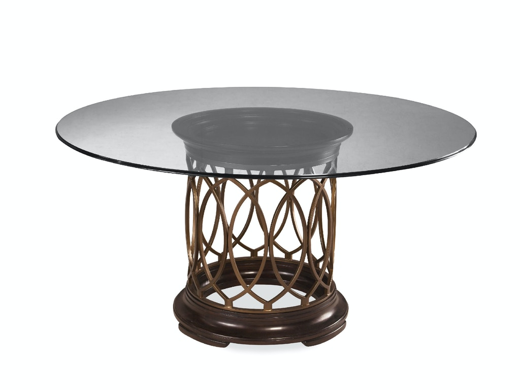 Dining Room Intrigue Glass Top Dining Table Base