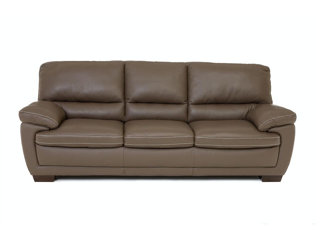 Living Room Denver Leather Sofa DARK TAUPE