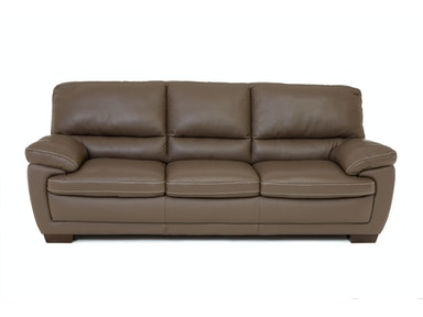 Denver Leather Sofa - DARK TAUPE