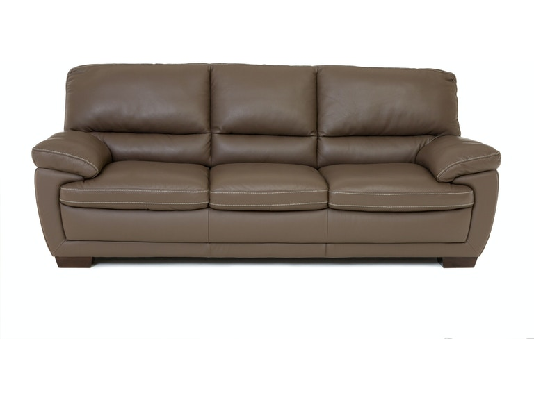 Living Room Denver Leather Sofa Dark Taupe