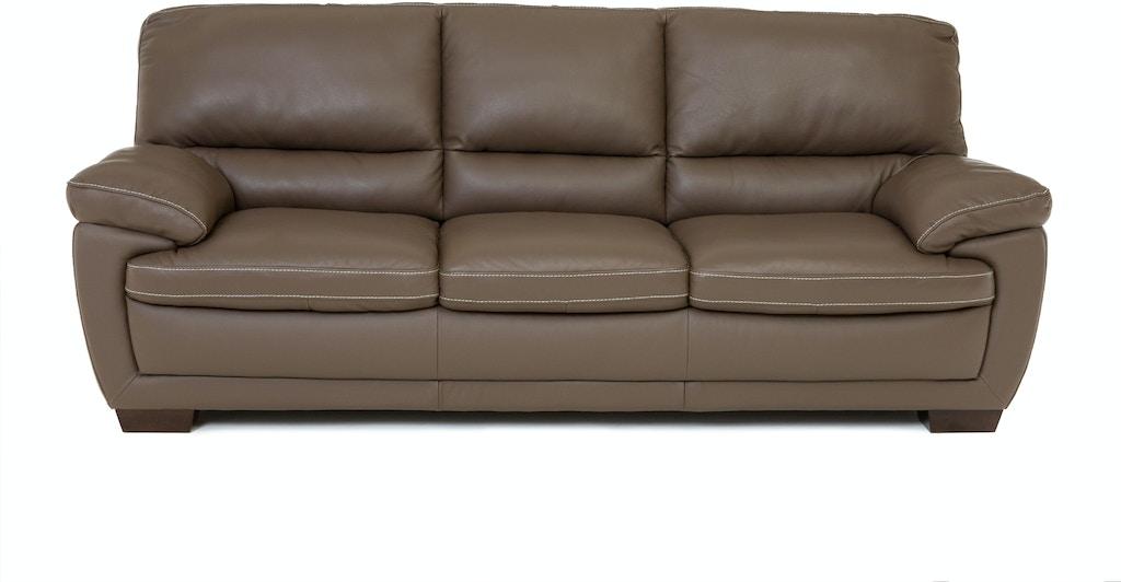 Denver Leather Sofa Dark Taupe St 341188