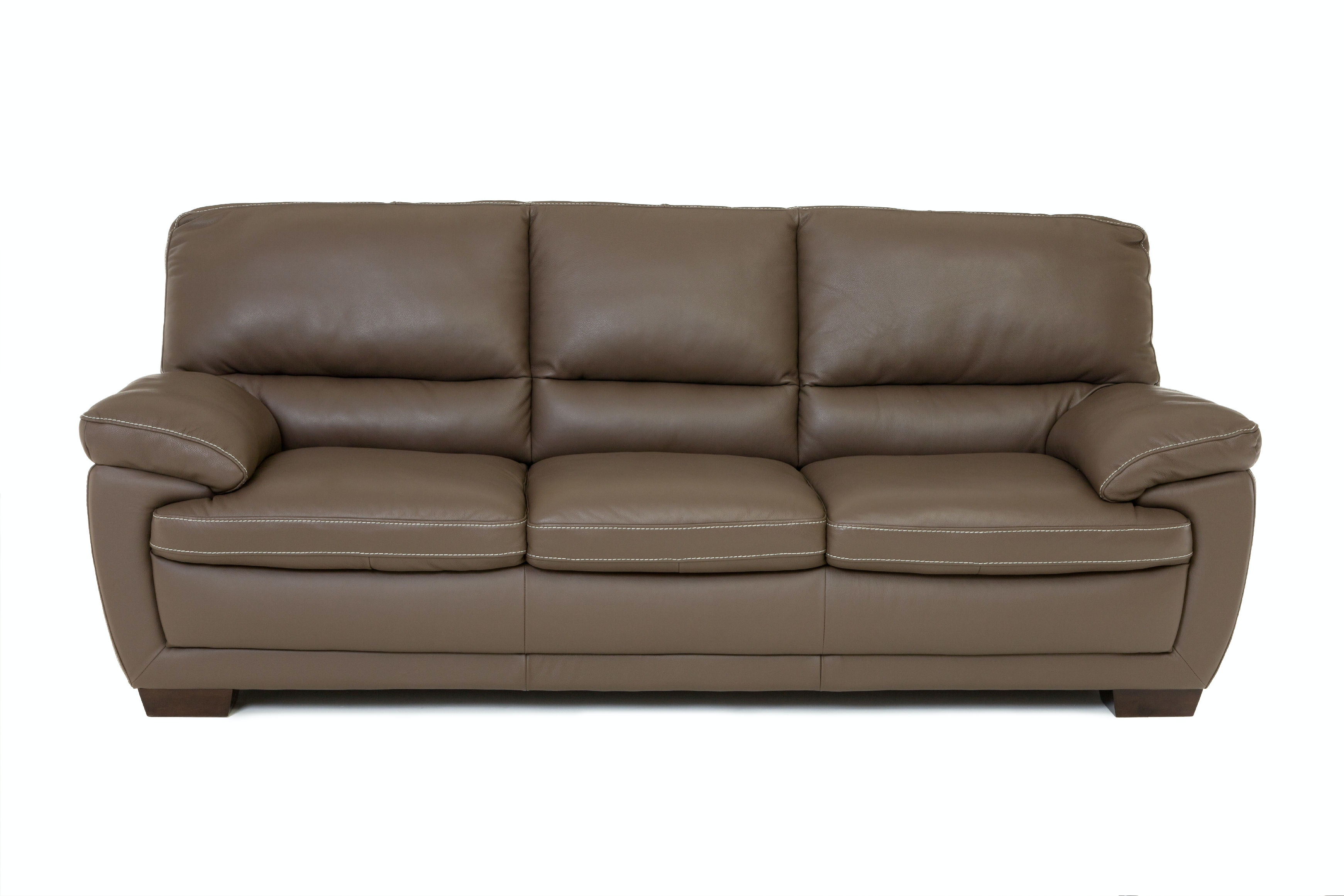Incroyable Denver Leather Sofa   DARK TAUPE ST:341188