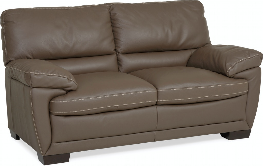Denver Leather Loveseat Dark Taupe St 341189