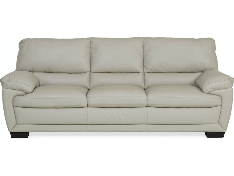 Denver Leather Sofa Ivory Smoke St 341192